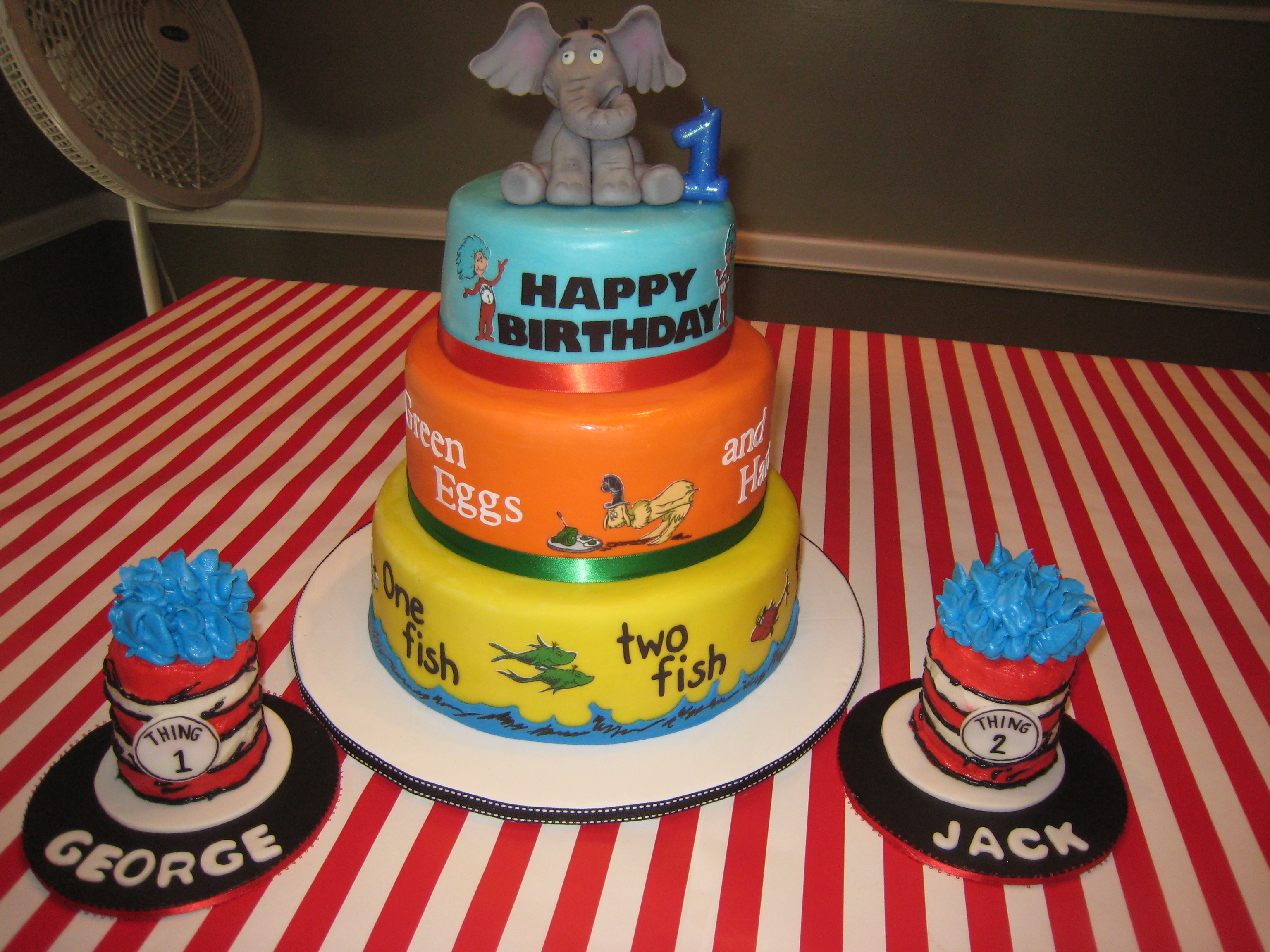 Twins First Birthday Cakeconscious